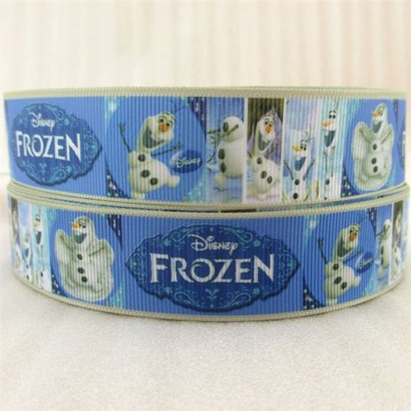 1 METRE NEW  OLAF FROZEN RIBBON SIZE 1 INCH HAIR BOWS HEADBANDS CARD MAKING